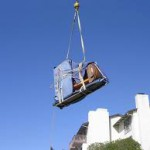 piano lifted by Crane 1